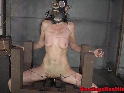 Beautiful slave girl next door enjoys bondage sex and spanking