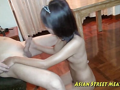 Sexy Asian hitchhiking for cash gets anal