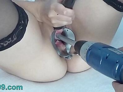 Bi horny asian pissing and prostate plug cum