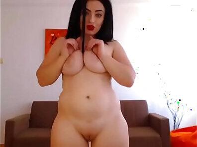 BBW sensational striptease getting railed