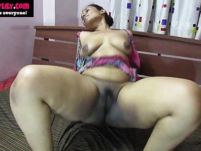 Classy Indian babe tugging on a dick until orgasm