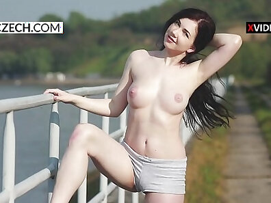 Czech slut gets her pussy pounded in public strip drinking me naked