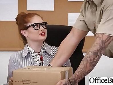 Busty Redhead Goes Hardcore Fucking In Office