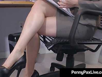 Crazy Hot Nerd Penny Pax Sucking Dick At The Office