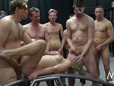 Chubby Straight German Orgy filmed by Other Guys