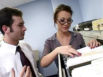 Jobless busty anal teen Alei is hired to fuck an office