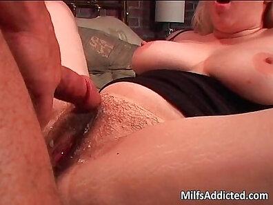 Hairy blonde lap dancer riding cock