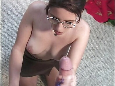 Beautiful blowjob with big dildo