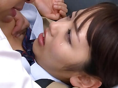 Buxom Japanese school sweetie in pink sweaters gets powerfully fucked hard