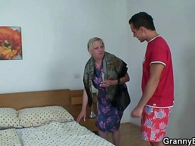 Hot Young Boyfight Cute Granny Bound And Superb