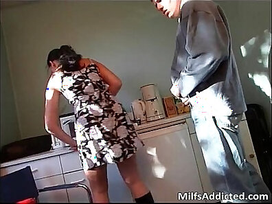 Crossdressing Milf and her husband