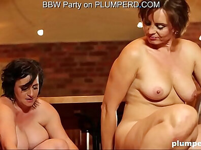 Fat mature slut gets face spit fucked all over