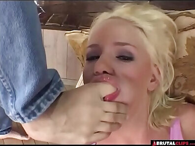 Punishment and hardcore throat fucking with mandingo