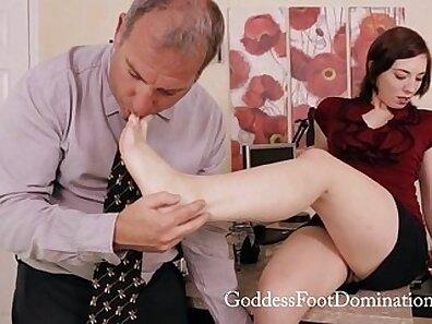 Fancy foot fetish porn scene