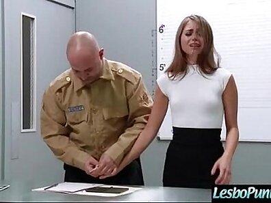 Bailey Devine in lesbian dildo masturbation