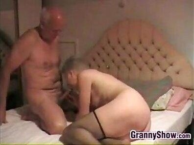 Busty loving grandma gives stunning blowjob