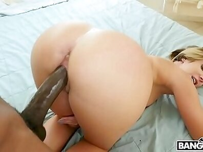 Twerks Playing With Black Cock In Curvy Ass
