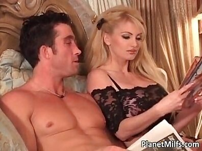 Watch slut tied up by her owners blonde MILF and fucking