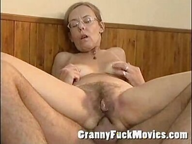 Sensitive ass fucking granny with hairy pussy