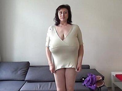 Cute Euro MILF Eats Her Milk