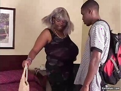 Chubby granny with big tits gets pounded by black cock