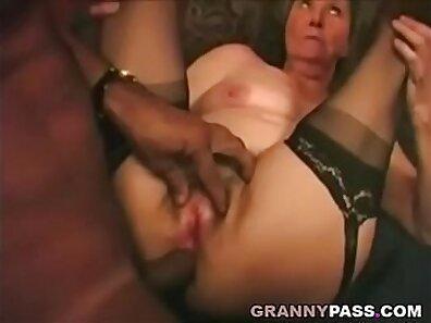 Hot granny interracial ass and assfuck