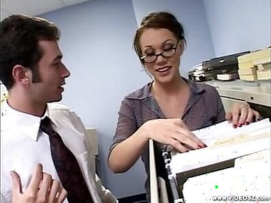 Boss mouth and pussy fucked with class