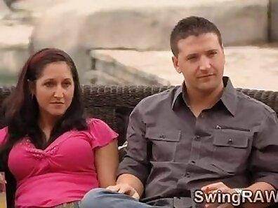 Amateur Swinger Couple Having Fun