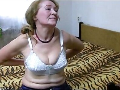 Naughty Granny Cums with Young Boy