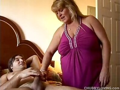 Hot blonde chubby with big tits
