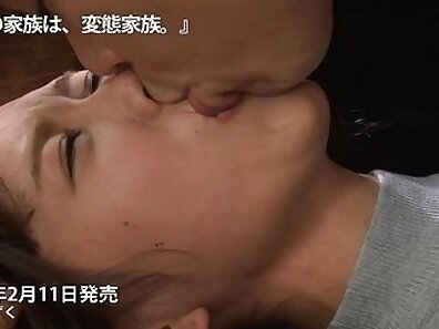Bigtitted stepmom facialized by masseur
