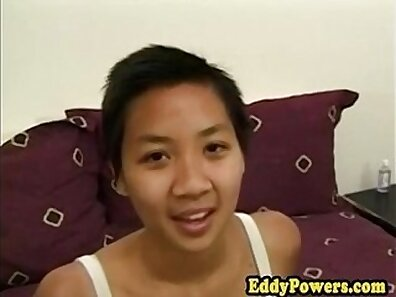 Asian babe with perfect tits gets her pussy licked and poked