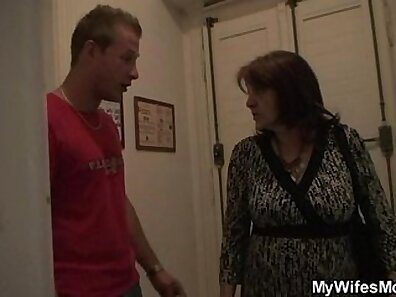 Busty granny Lenora Knight gets fun with her son