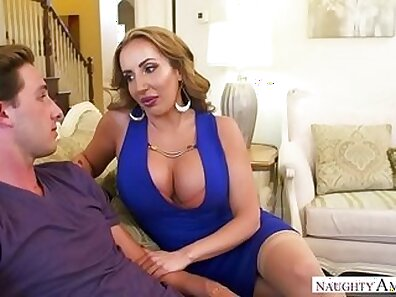 Classy milf from america plows puny hard cock