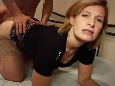 Short haired german MILF laid bare pussy fucked