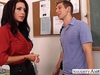 Big boobed teacher gives rubber last.xas
