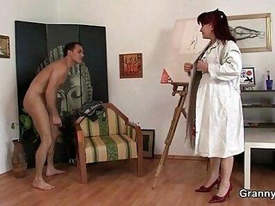 Transsexual mature sucks two cocks