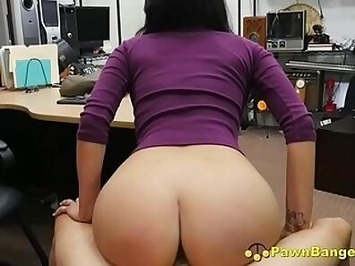 Busty Latina loves two cocks in pussy and throat