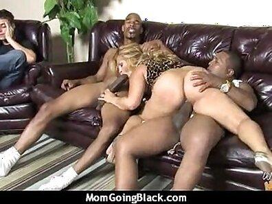Black mature mom banging hard white cocks