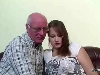 Lust is abdicated and sexy youngsters seduces one of the grandpas
