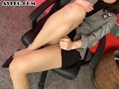 Asian brunette stocking foot fetish