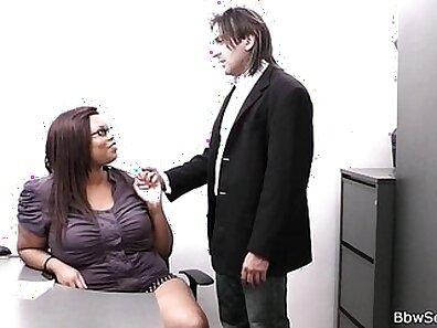 Hottest black BBW fucks rough boss
