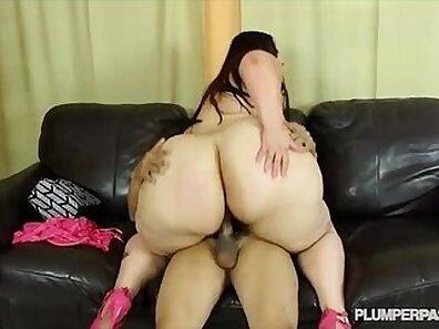 Bbw sucking off big booty uncut cock