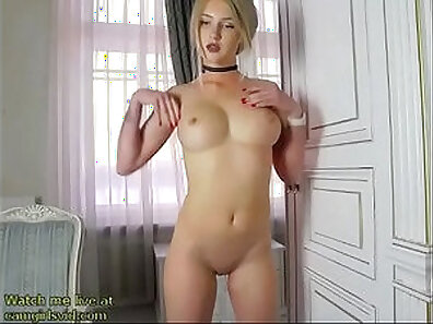 Blonde Brittany - feet gag and finger fuck