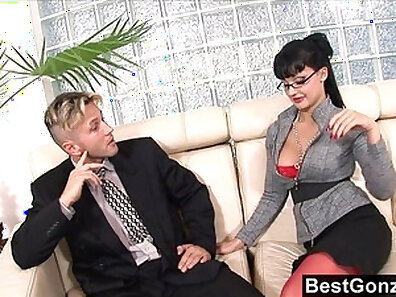 Fine ass Kayden Lee boned by her boss