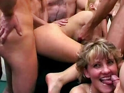 Blonde Babe Rides Two Dick Friends For Cum! Quickie