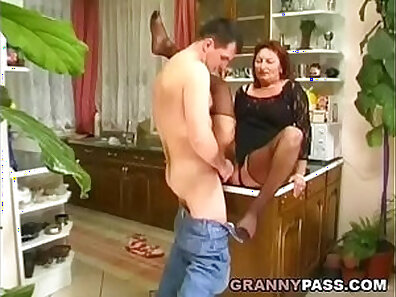 BBC gets hairy pussy in kitchen