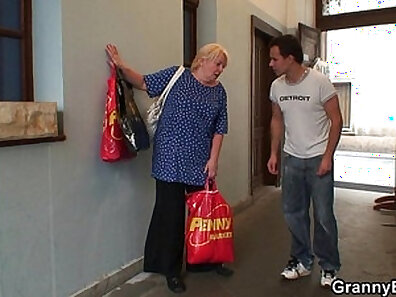 Beautiful Granny Fucked Hard by Young Dude