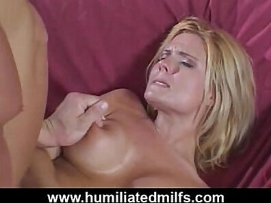 Sexy MILF Lisa teasing accidental anal
