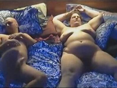 Blindfolded wife fucks her preggo husband